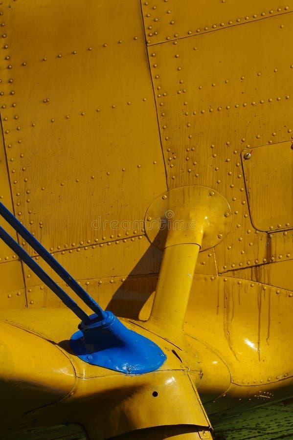 Dettagli di sport degli aerei del biplano immagini stock libere da diritti