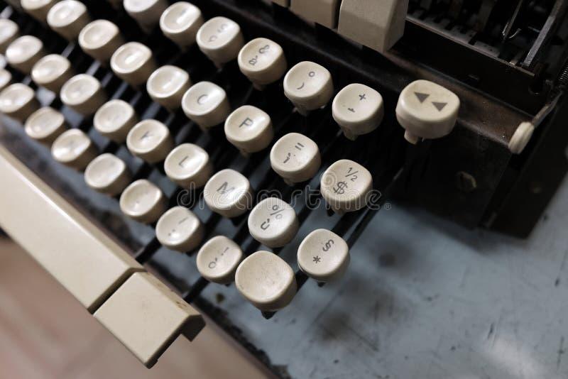 Dettagli di vecchia macchina da scrivere fotografia stock libera da diritti