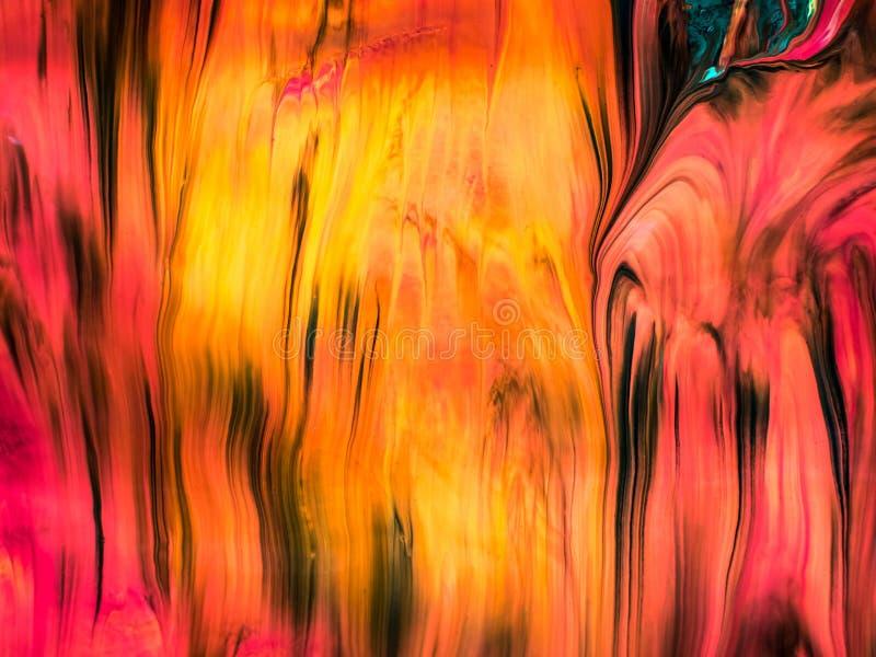 Dettagli di verniciatura moderni acrilici con contrasto vibrante illustrazione vettoriale