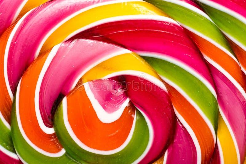 Dettagli dolci del primo piano della lecca-lecca fotografia stock