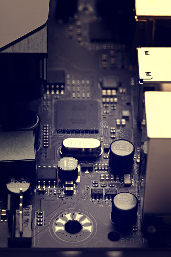 Dettagli e componenti dell'apparecchio elettronico immagini stock