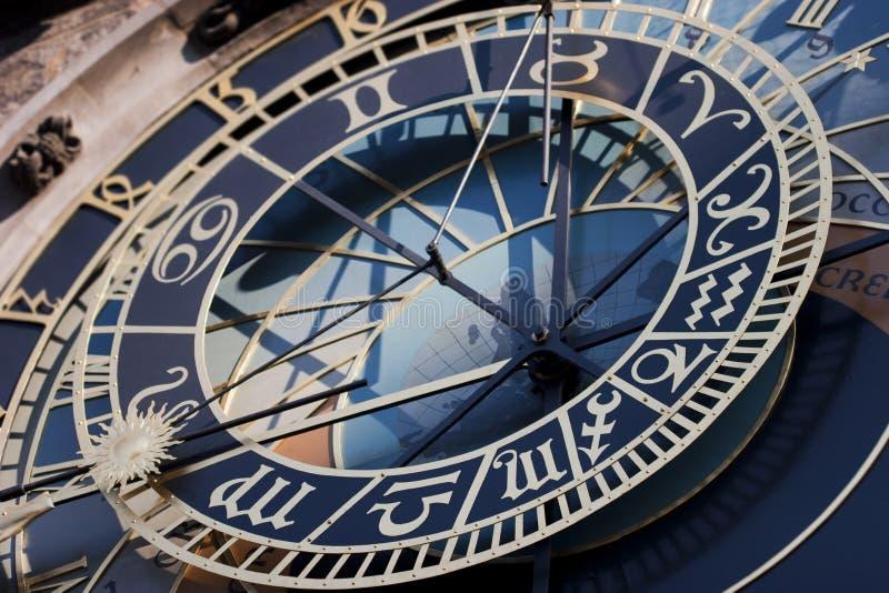 Orologio astronomico storico nel quadrato di Città Vecchia a Praga fotografia stock libera da diritti