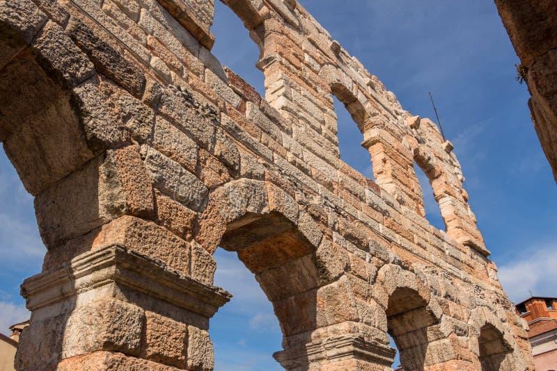 Dettagli Verona Coliseum immagini stock