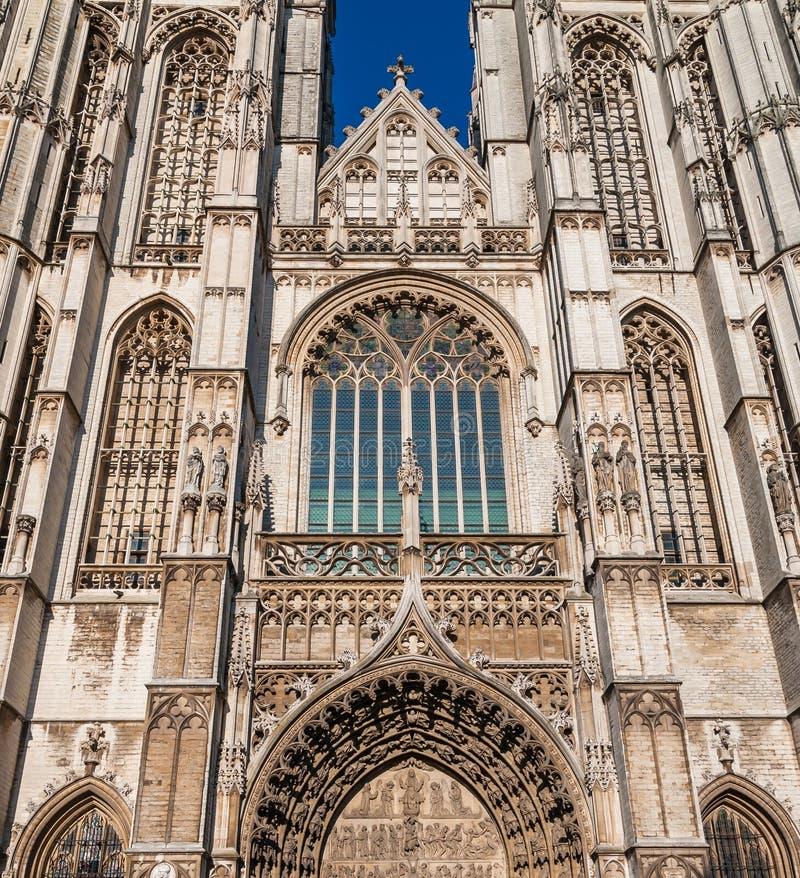 Dettaglia la cattedrale medievale della nostra signora a Anversa immagine stock libera da diritti