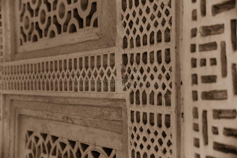 Dettaglio arabo tradizionale della grata della casa fotografie stock libere da diritti