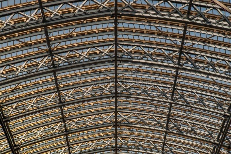 Dettaglio architettonico del dettaglio architettonico ricostruito del soffitto ricostruito della grata immagini stock