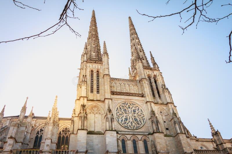 Dettaglio architettonico del san Andre de Bordeaux della cattedrale fotografia stock