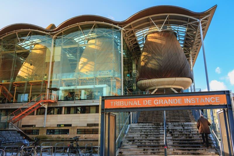 Dettaglio architettonico dell'alta corte del Bordeaux immagini stock libere da diritti