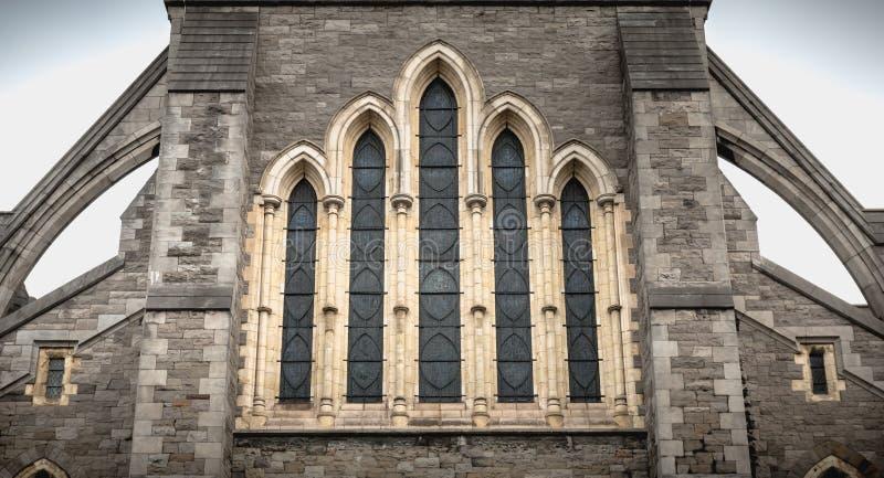 Dettaglio architettonico della cattedrale della chiesa di Cristo di Dublino, Irlanda immagine stock libera da diritti