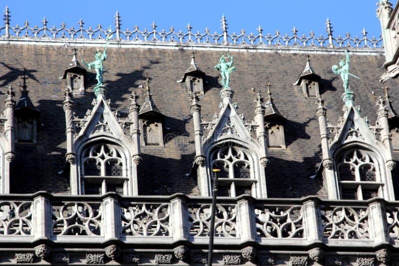 Dettaglio architettonico in Grand Place di Bruxelles fotografia stock