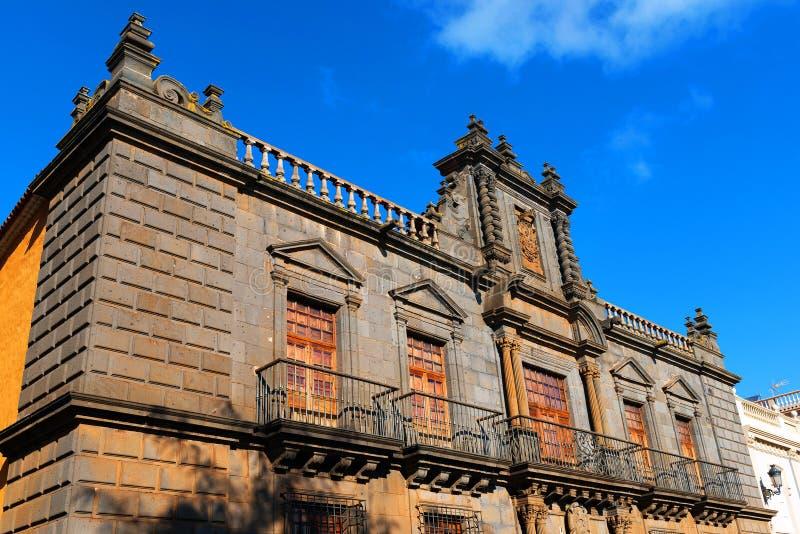 Dettaglio architettonico in San Cristobal de la Laguna fotografia stock