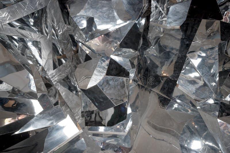 Dettaglio astratto di pochi grandi pezzi di ghiaccio rotto ghiaccio, blocchi schiacciati di ghiaccio Superficie rotta del ghiacci immagini stock libere da diritti
