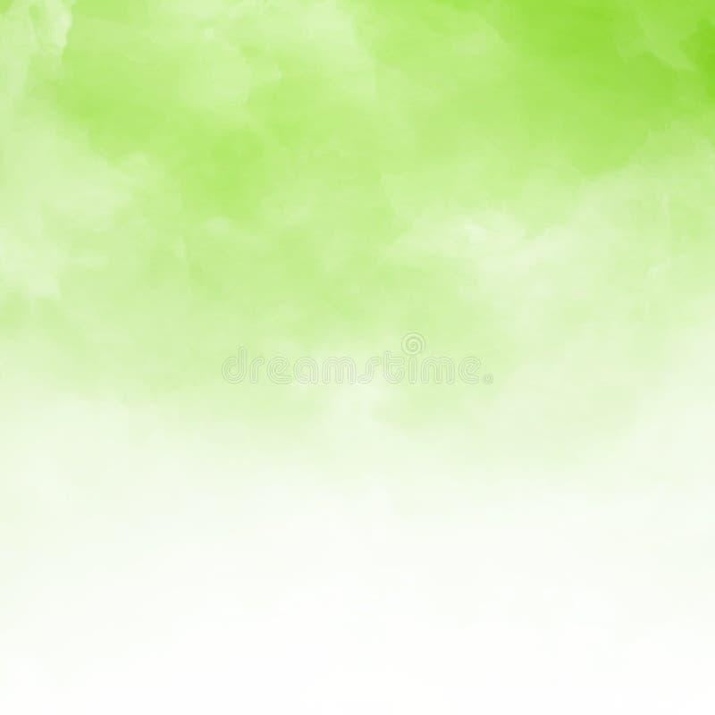 Dettaglio bianco della nuvola su fondo natral verde e struttura con la c illustrazione vettoriale