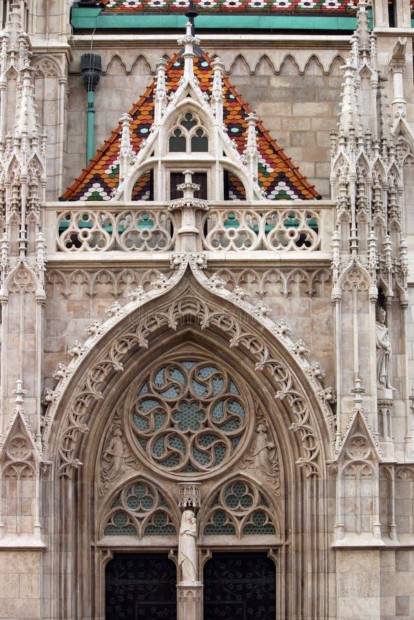Dettaglio Budapest della chiesa di StMatthias fotografia stock