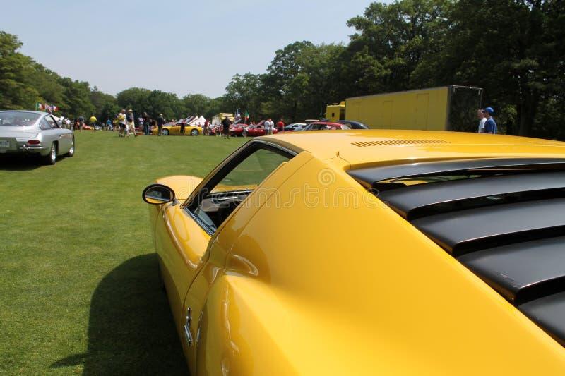 Dettaglio classico del lato dell'automobile sportiva di Lambo immagine stock libera da diritti