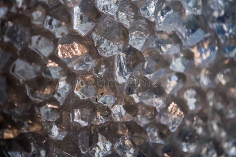 Dettaglio crudo del quarzo del diamante fotografie stock libere da diritti