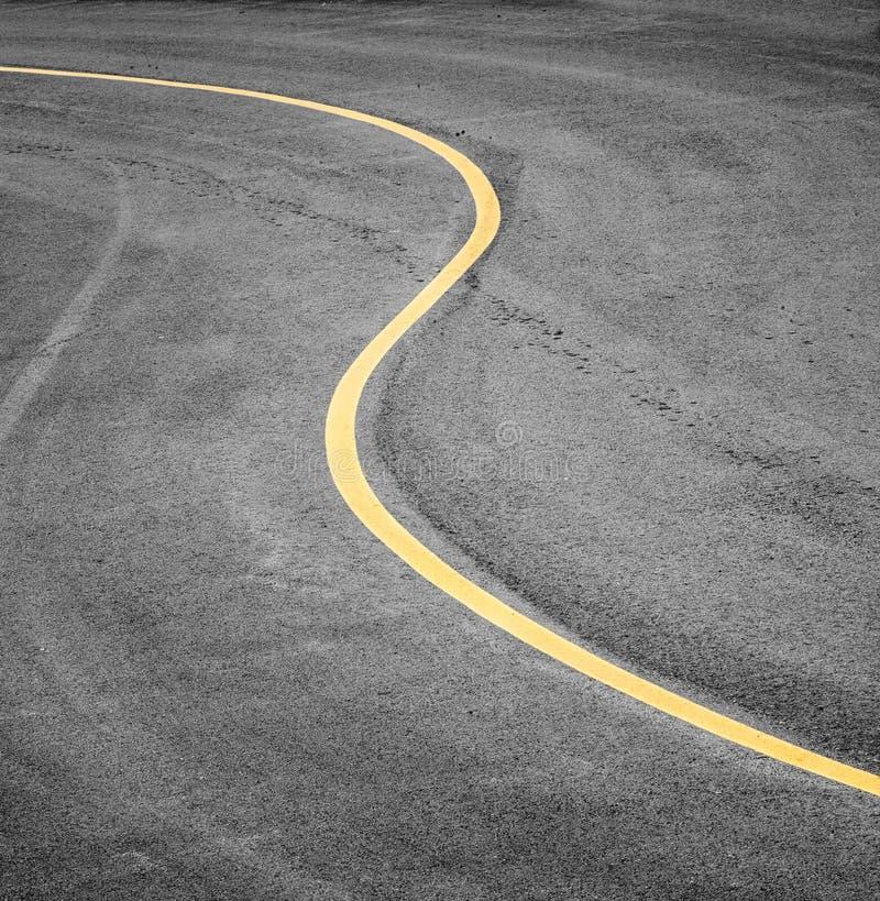 Dettaglio curvo della strada immagine stock