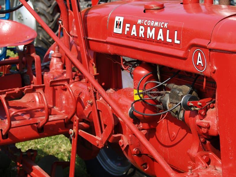 Dettaglio d'annata del motore di trattore immagini stock libere da diritti