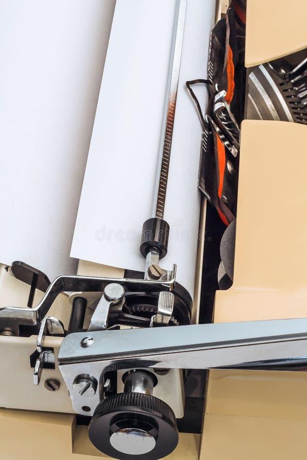 Dettaglio d'annata della macchina da scrivere immagini stock libere da diritti