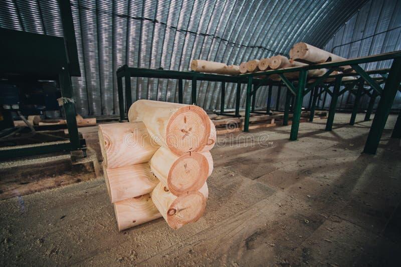 Dettaglio dei fasci in parete della cabina legno non dipinto fotografia stock libera da diritti