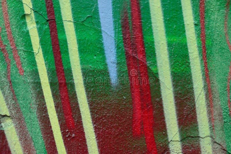 Dettaglio dei graffiti sulla parete dipinta fotografie stock