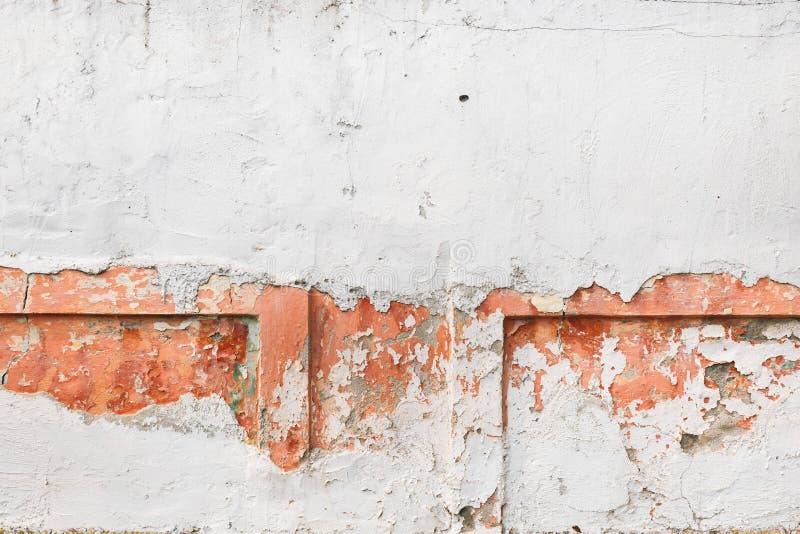 Dettaglio dei modelli e delle strutture sulla parete del cemento fotografie stock