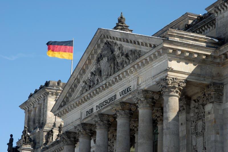 Dettaglio del Bundestag a Berlino immagini stock