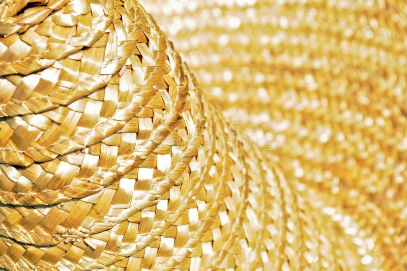 Dettaglio del cappello di paglia fotografie stock libere da diritti