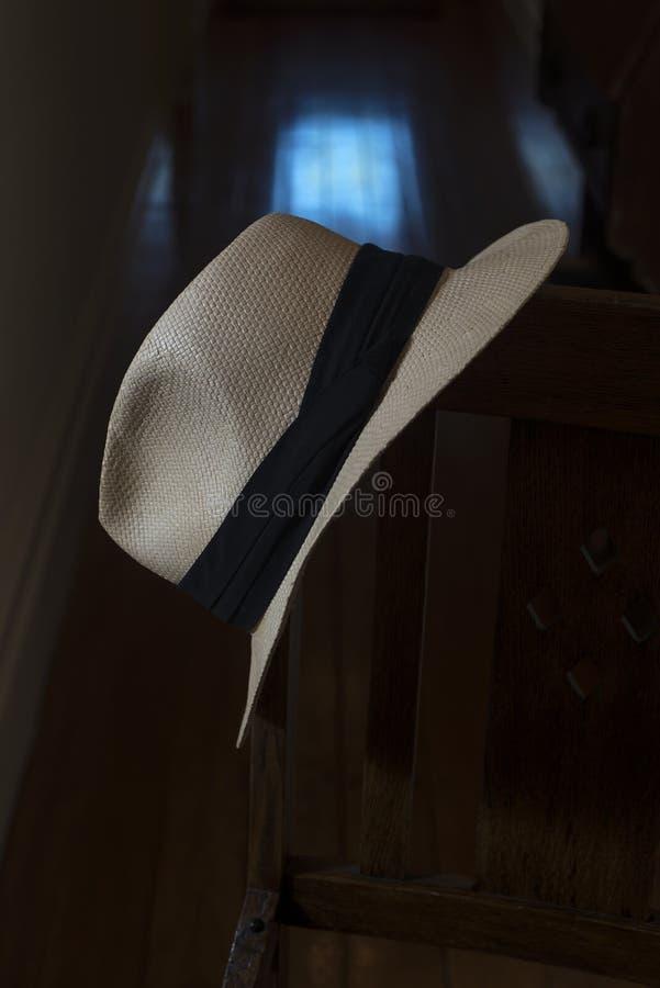 Dettaglio del cappello di Panama fotografia stock libera da diritti
