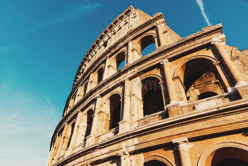 Dettaglio del Colosseo di fama mondiale a Roma fotografie stock
