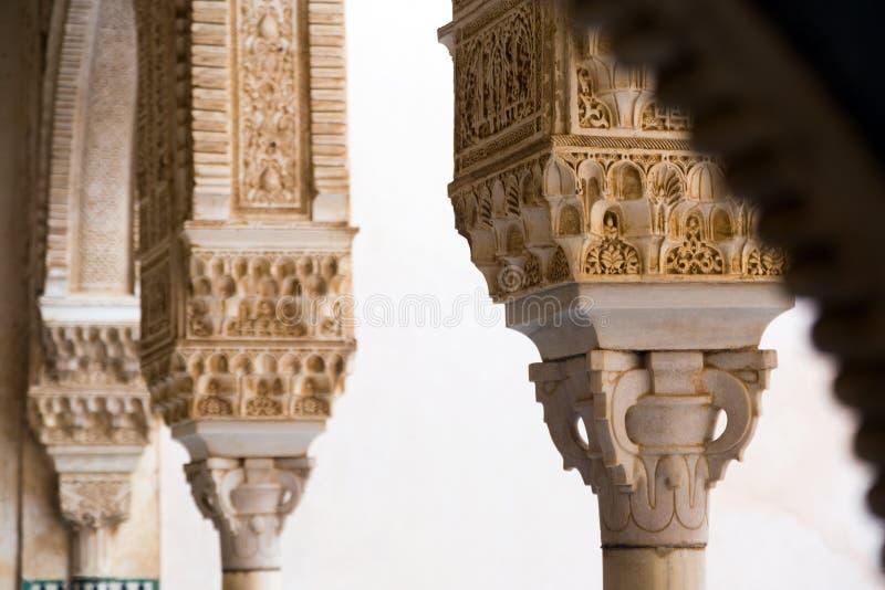 Dettaglio del dorado di Cuarto della stanza Gilded a Alhambra granada immagini stock libere da diritti