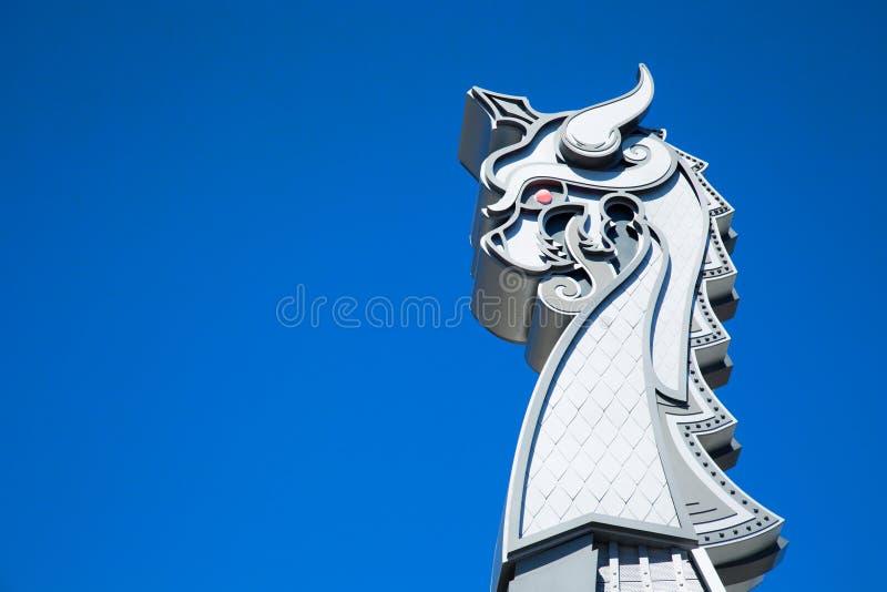 Dettaglio del drakkar dei Vichingo del Minnesota fotografie stock