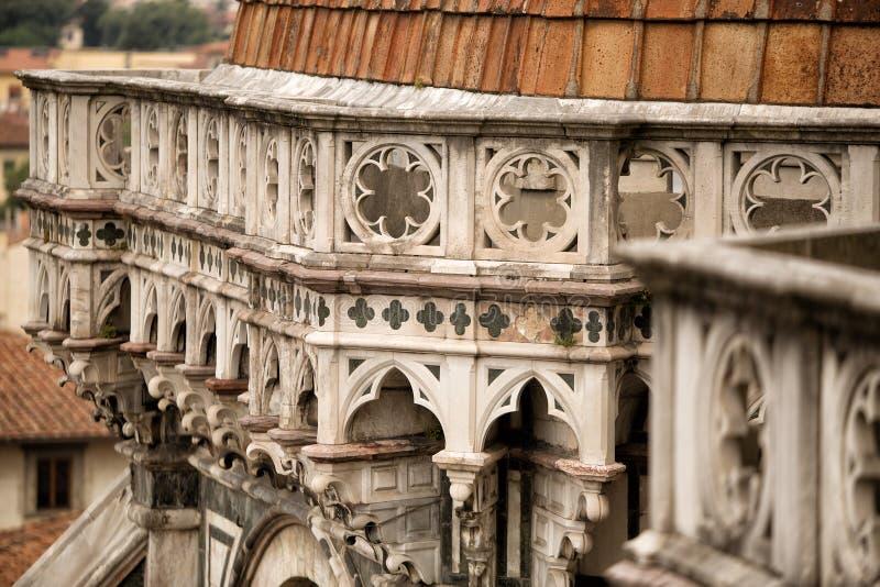 Dettaglio del duomo dell'IL, Firenze fotografie stock libere da diritti
