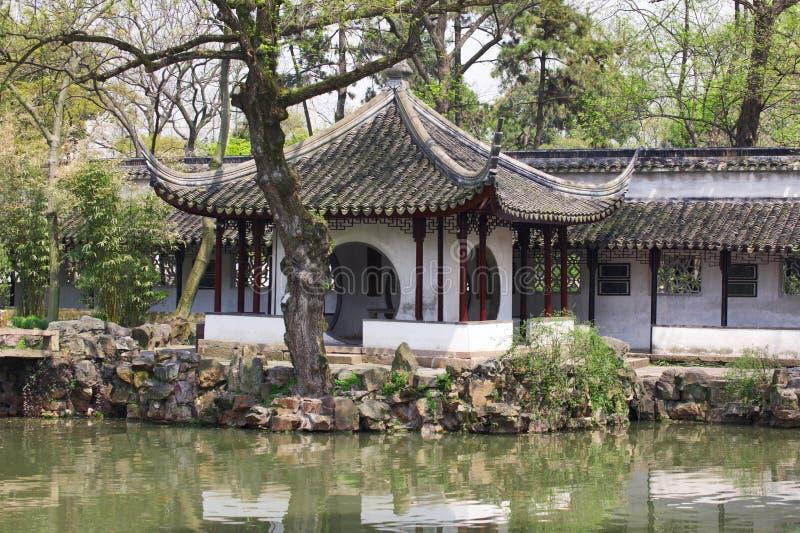 Dettaglio del giardino umile del ` s dell'amministratore Suzhou, Cina fotografie stock libere da diritti