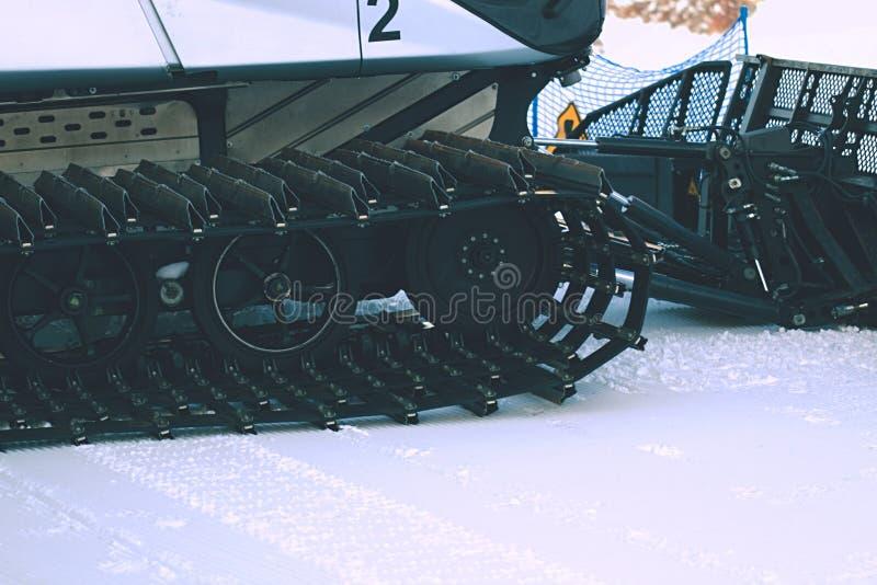 Dettaglio del groomer della neve fotografia stock