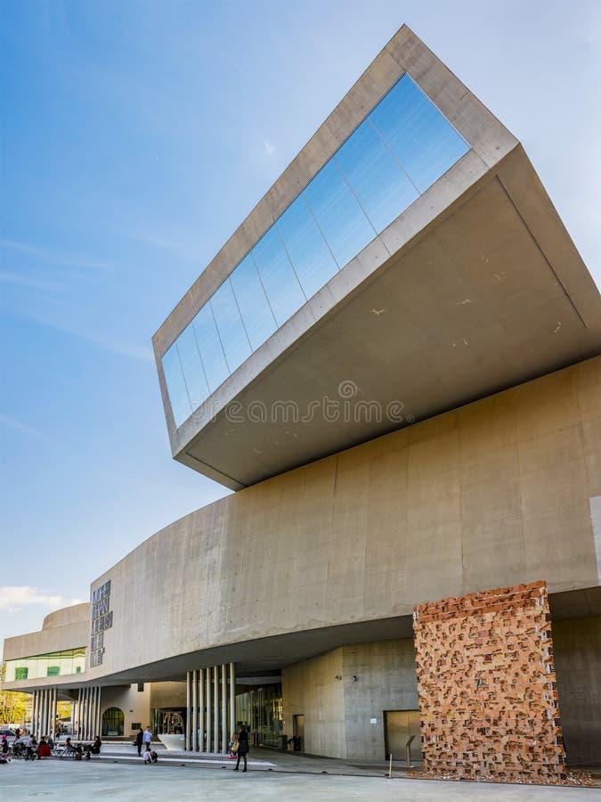 Dettaglio del museo di MAXXI a Roma fotografie stock