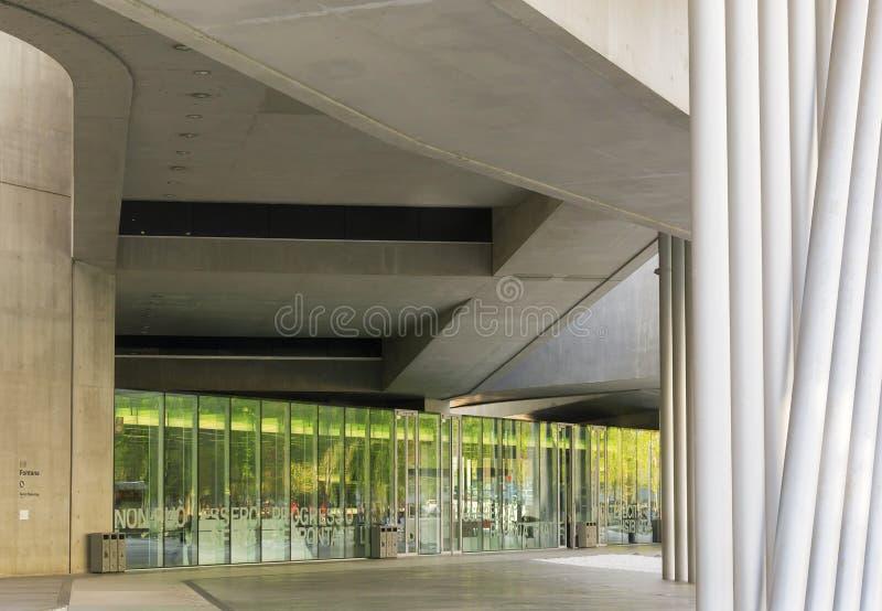 Dettaglio del museo di Maxxi a Roma fotografia stock