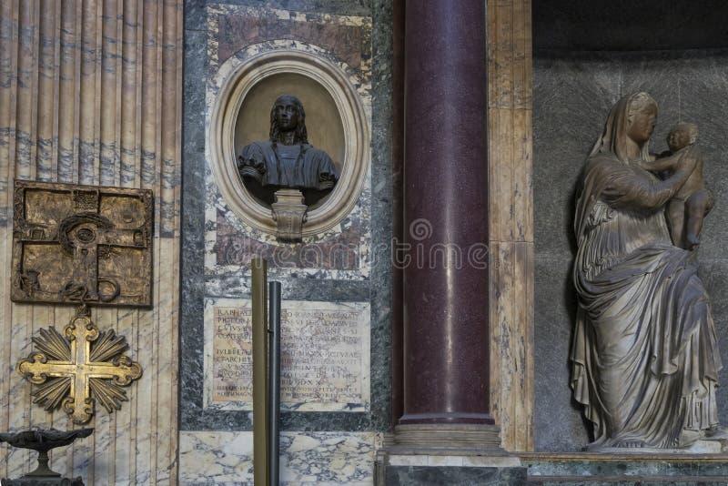 Dettaglio del panteon a Roma Interno vicino di vista Il panteon era Bu immagine stock libera da diritti