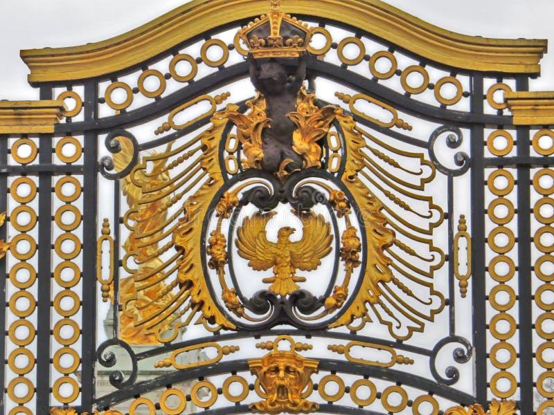 Dettaglio del recinto, Buckingham Palace, Inghilterra immagine stock libera da diritti