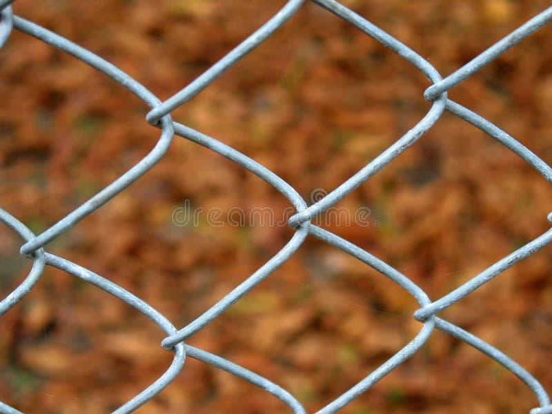 Dettaglio del recinto di filo metallico immagini stock
