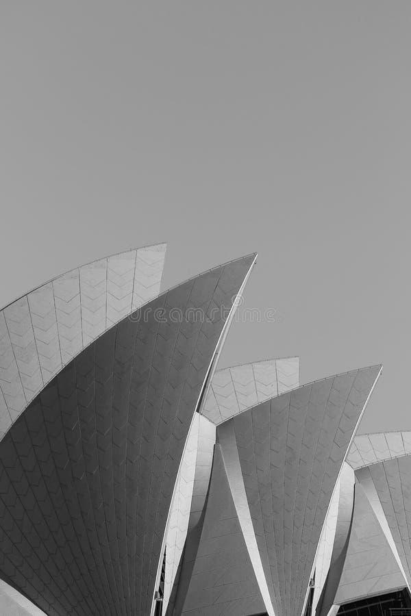 Dettaglio del teatro dell'opera di Sydney fotografie stock