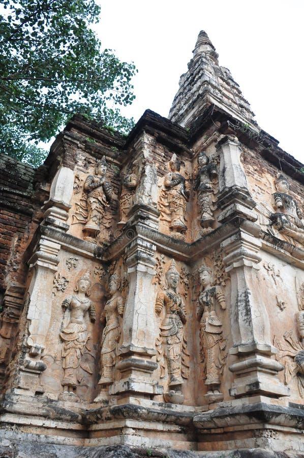 Dettaglio del tempio di fraseologia in Chiangmai fotografia stock libera da diritti