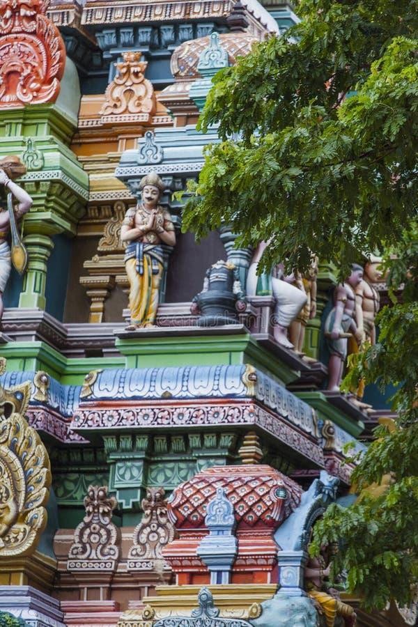 Dettaglio del tempio di Meenakshi a Madura, India immagine stock libera da diritti