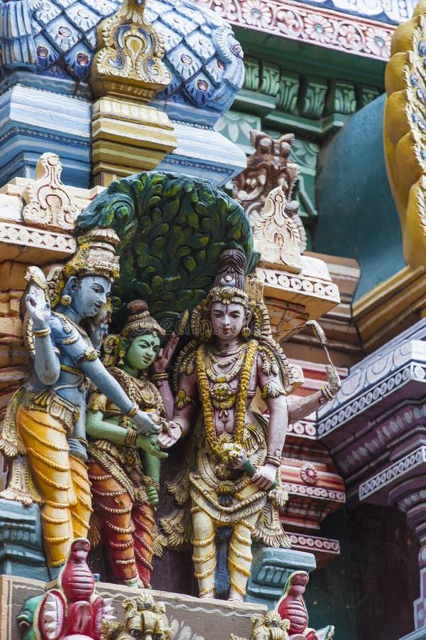 Dettaglio del tempio di Meenakshi a Madura, India immagini stock