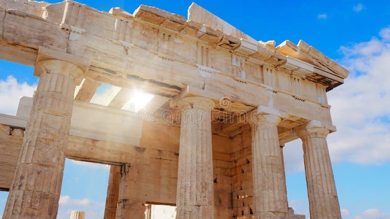 Dettaglio del tempio del Partenone fotografia stock