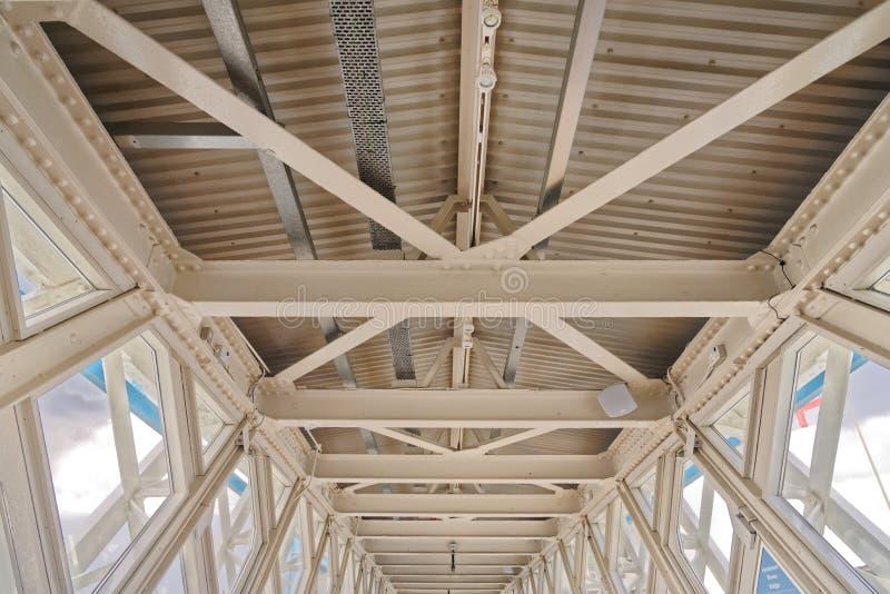 Dettaglio del tetto del ferro fotografie stock