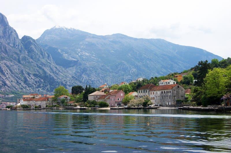 Dettaglio del villaggio di Prcanj fotografie stock
