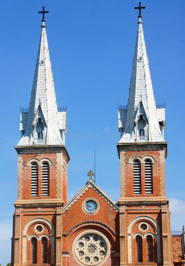 Dettaglio dell'attrazione della cattedrale di Notre Dame, città di Ho Chi Minh immagine stock