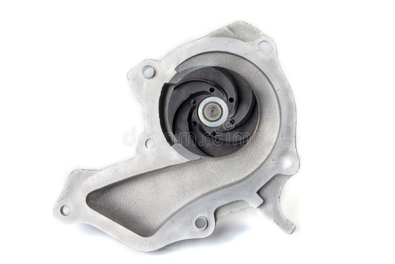 Dettaglio dell'interno della pompa idraulica del motore di un'automobile della benzina isolata fotografie stock libere da diritti