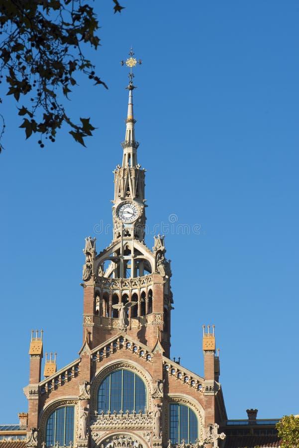 Dettaglio dell'ospedale di Santa Cruz e di San Pablo in Barcelone Spagna fotografia stock libera da diritti